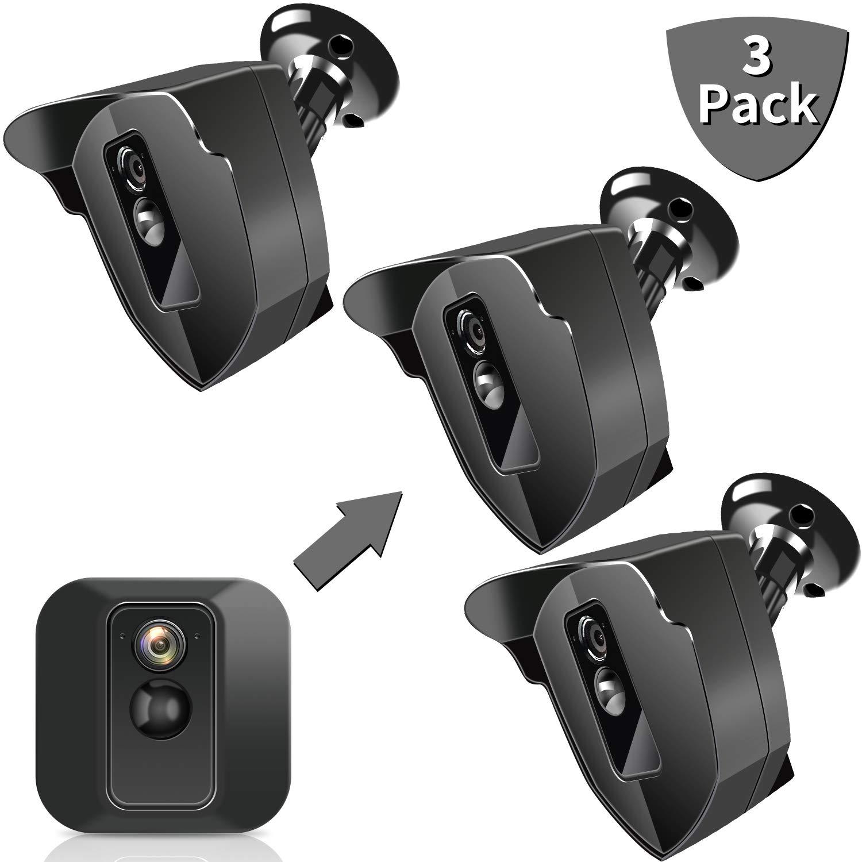 Blink XT Mount, Indoor Outdoor Mount for Blink XT Home Security, Weather Proof 360 Degree Protective Adjustable Blink Mounting Bracket Black, Blink Camera Mount Compatible with Blink XT (3 Pack)