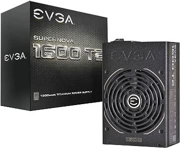 EVGA Supernova 1600 T2 80+ Titanium, 1600W ECO Mode Fully Modular NVIDIA SLI and Crossfire Ready 10 Year Warranty Power Supply 220-T2-1600-X1