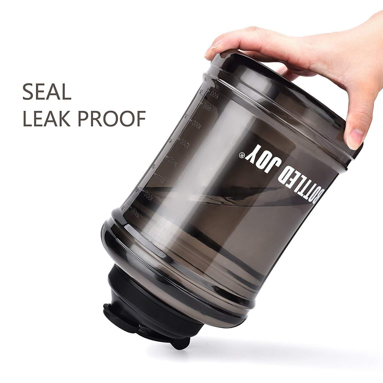Black Bottled Joy Water Jug 83oz Large Water Bottle Upgraded Leakproof Kettle Plastic Sports Water Bottle BPA-Free for Gym Home Black