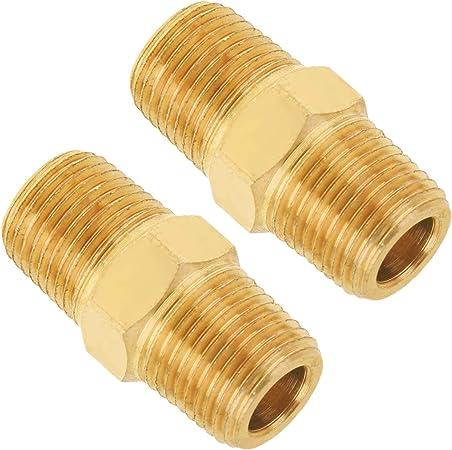 "1//8/"" x 9/""  Brass Pipe Threaded Nipple Plumbing NPT Fitting"