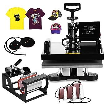 813468859cd4c 8 en 1 Maquina de Prensa Sublimación 15x15 pulgadas Taza Playera Gorra   Amazon.com.mx  Industria