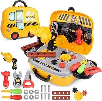 Dreamon Maletín de Herramientas de Juguete Tool Case para niños de 36 Meses: Amazon.es: Juguetes y juegos