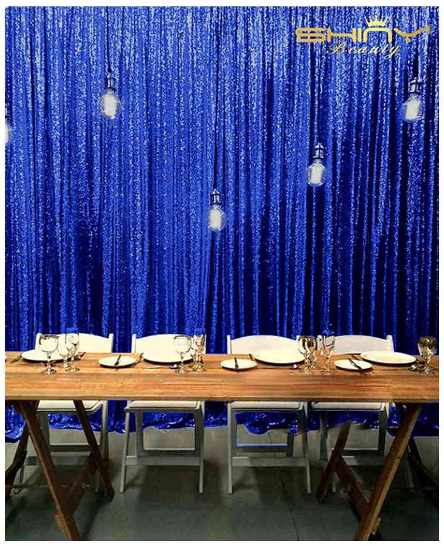 ShinyBeauty スパンコール背景カーテン ロイヤルブルー 10フィートx10フィート グリッター背景 ケーキ背景 写真背景幕 ~N11.21 B07KR9Y5FT