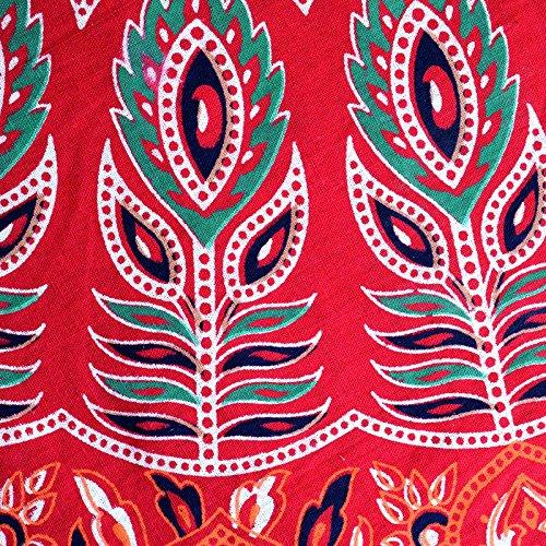 Blocco Stampa Rosso Lunghezza Involucro Formato Intorno D5 Pollici Gonna Sttoffa 36 Gonna Libero Di Rajasthan Xq0AxH