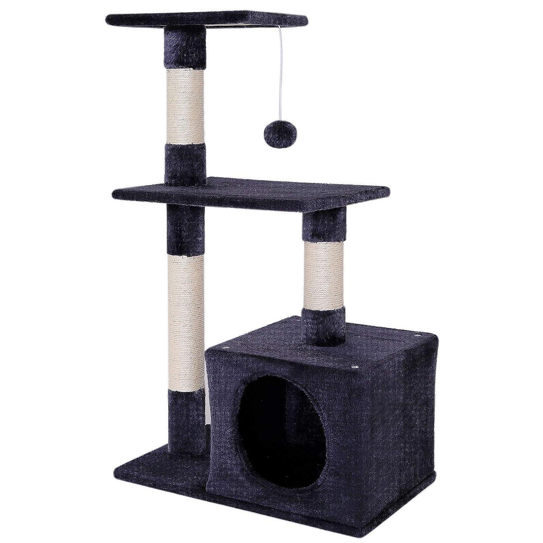 Dibea KB00252 Árbol Rascador para Gatos, Escalador, Altura 80 cm, Color Gris: Amazon.es: Productos para mascotas