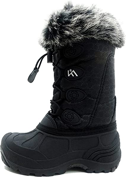 ICEFACE Kids Winter Snow Boots Waterproof and Insulated for Girls and Boys  (8 M US 120013098d15