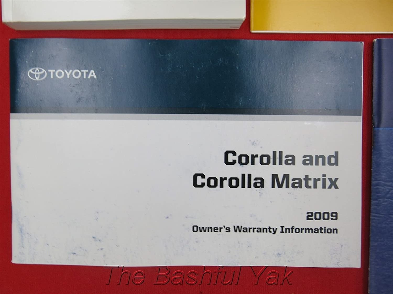 Amazon.com: 2009 Toyota Corolla Owner's Manual: Toyota Automotive:  Automotive