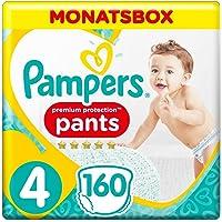Pampers Premium Protection Pants, Gr.4 Maxi, 9-15kg, Monatsbox, 1er Pack (1 x 160 Stück)