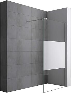 Sogood Lujosa Mampara/Panel de ducha de vidrio transparente ...
