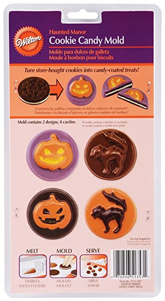 Wilton 2115-1357 Halloween Haunted Manor Cookie Candy Mold