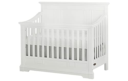 Evolur Parker 5 in 1 Convertible Crib, Winter White