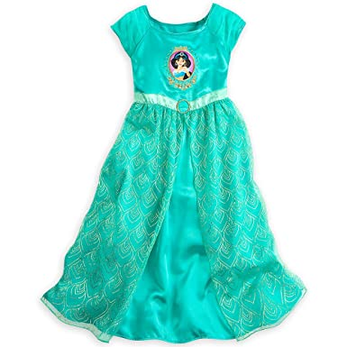 Image Unavailable. Image not available for. Color  Disney Store Deluxe  Princess Jasmine Nightgown Aladdin Girls Size XS Extra Small 4 ... fd60cfa43