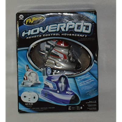 FlyTech Hoverpod Remote Control Hovercraft - Red: Toys & Games