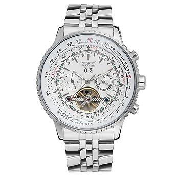 Fashion Drehganguhr Herren Stahl Tourbillon Uhren Armbanduhr Automatisch Weiß XZOuTkPi