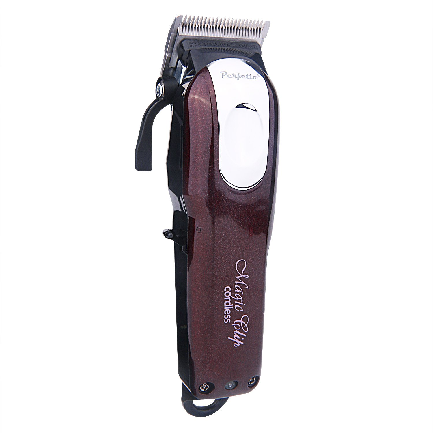 Perfetto Cordless Hair Clipper,Great for Barbers and Stylists,Rechargeable – 60 Minute Run Time Red