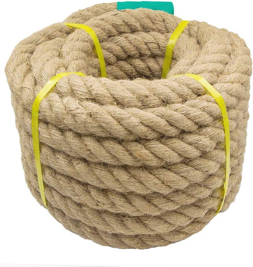 Nautical 1 inch x 48 Feet Climbing Tug of War Cat Scratching Post Hammock Decorate Anchor 1.18//1.5 Inch Twisted Hemp Rope for Crafts Aoneky Jute Rope
