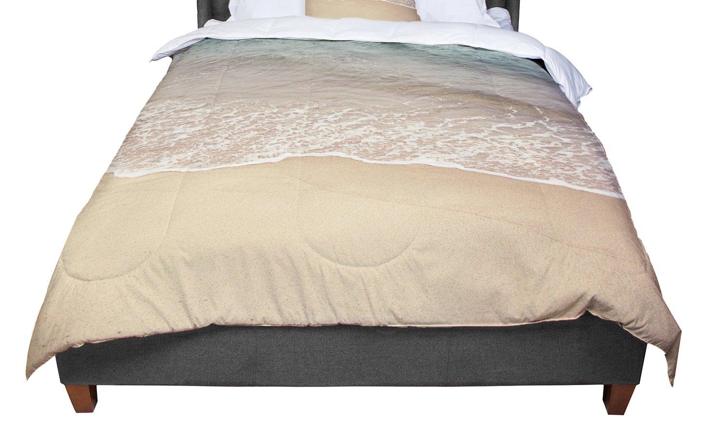 68 X 88 KESS InHouse Jillian Audrey Waves Roll In Brown Teal Twin Comforter