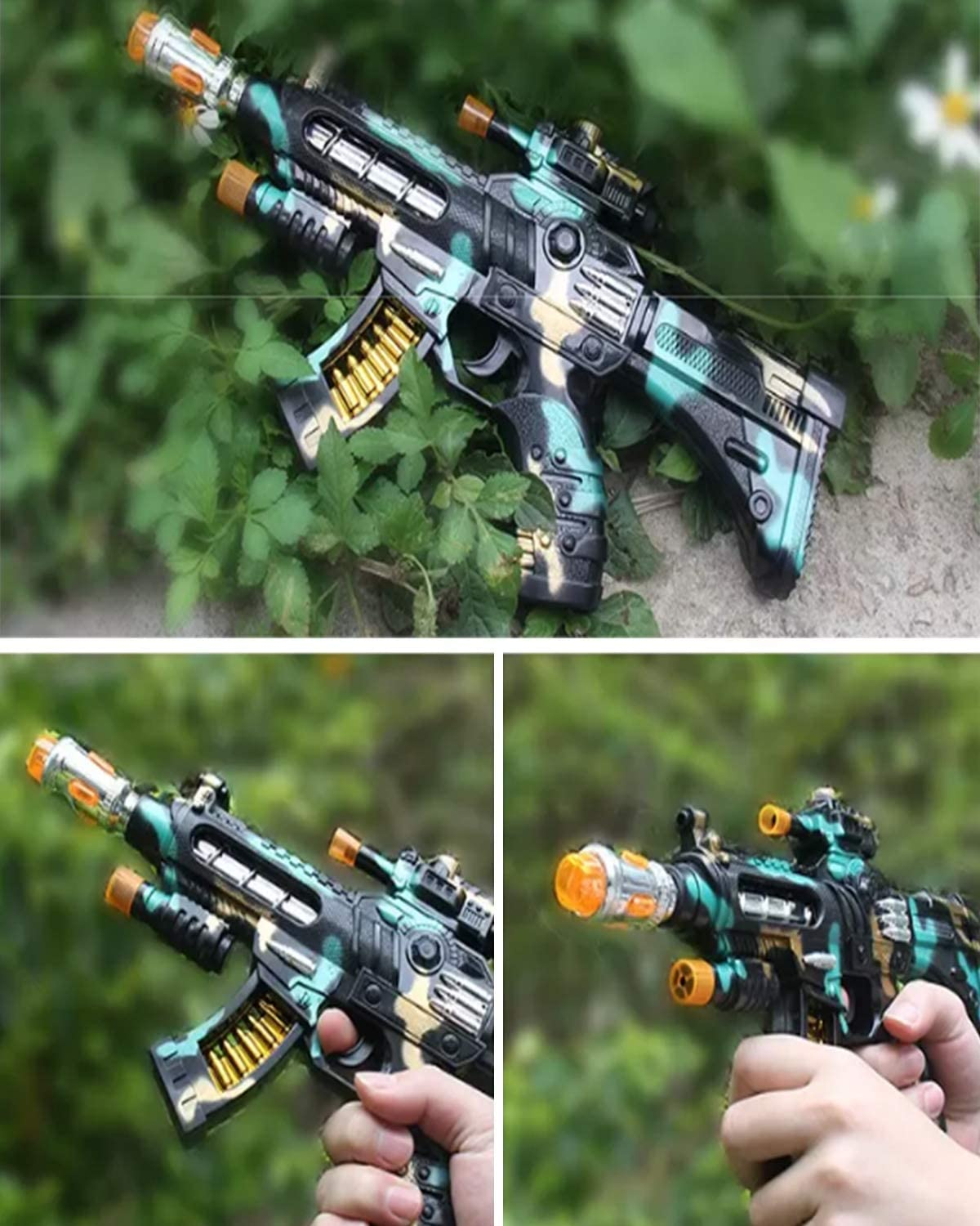 Rifle with Dazzling Light and Amazing Sounds and Unique Movements a Great Gift for Boys and Girls DAXHU Childrens Toy Gun