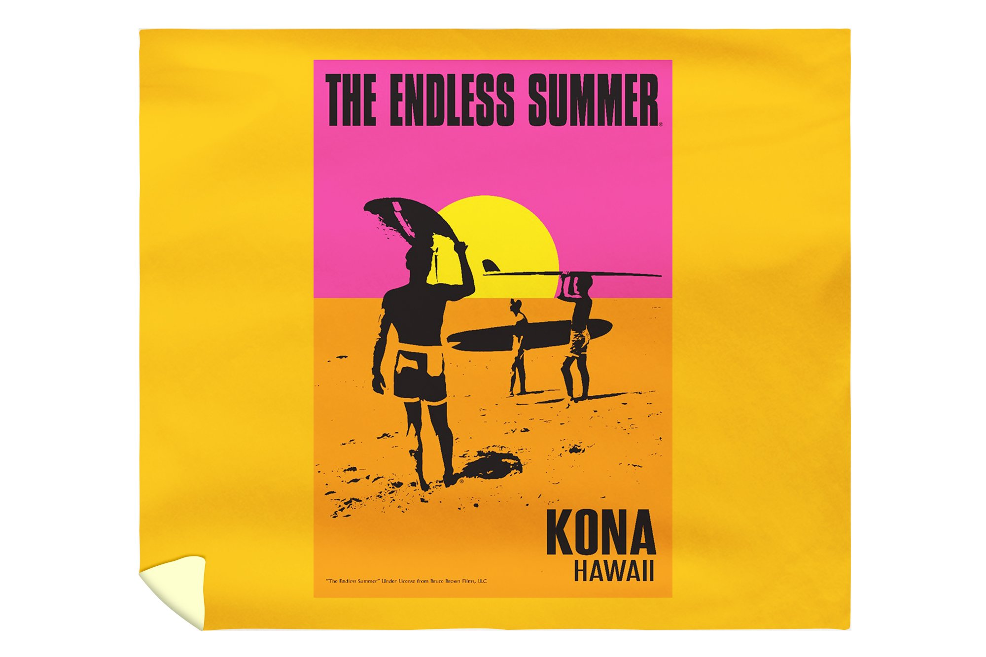 Kona, Hawaii - The Endless Summer - Original Movie Poster (88x104 King Microfiber Duvet Cover)