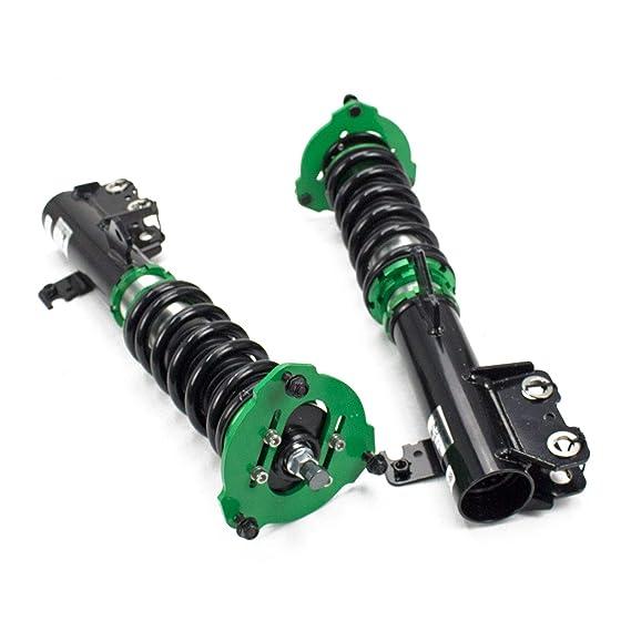 Mono-Tube Shock w// 32 Click Rebound Setting Rev9 R9-HS2-062/_1 Hyper-Street II Coilover Suspension Lowering Kit Full Length Adjustable
