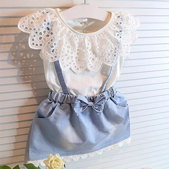 2eed7c6eb601 Junjie Baby Kids Girls Cotton Fancy Flower Crew Neck Sleeveless Tutu ...