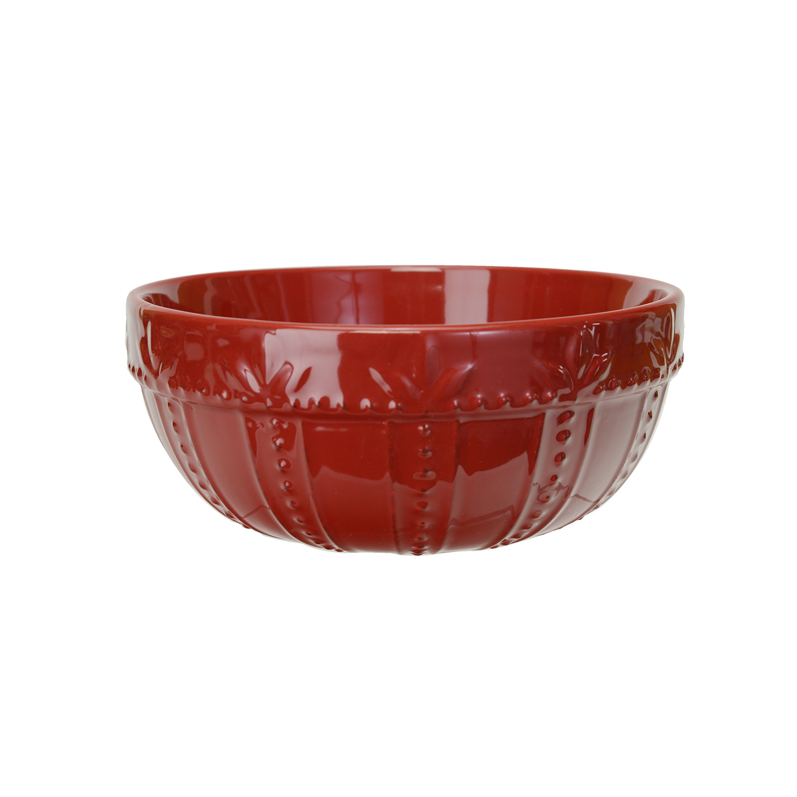 Signature Housewares Sorrento Collection Set of 2 Mixing Bowls, 8-Inch and 9-Inch, Ruby