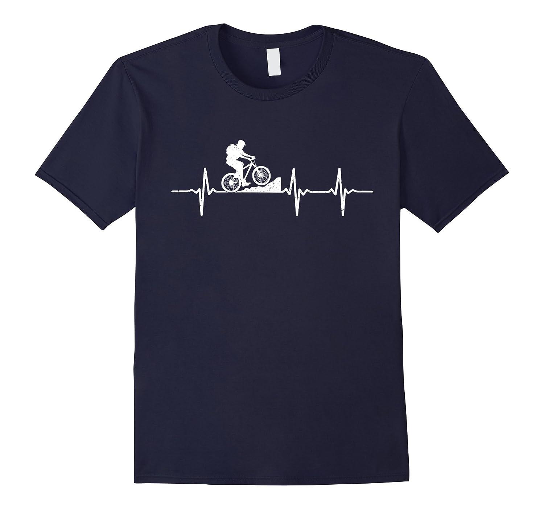 Mountain Biking Heartbeat T-Shirt-CL