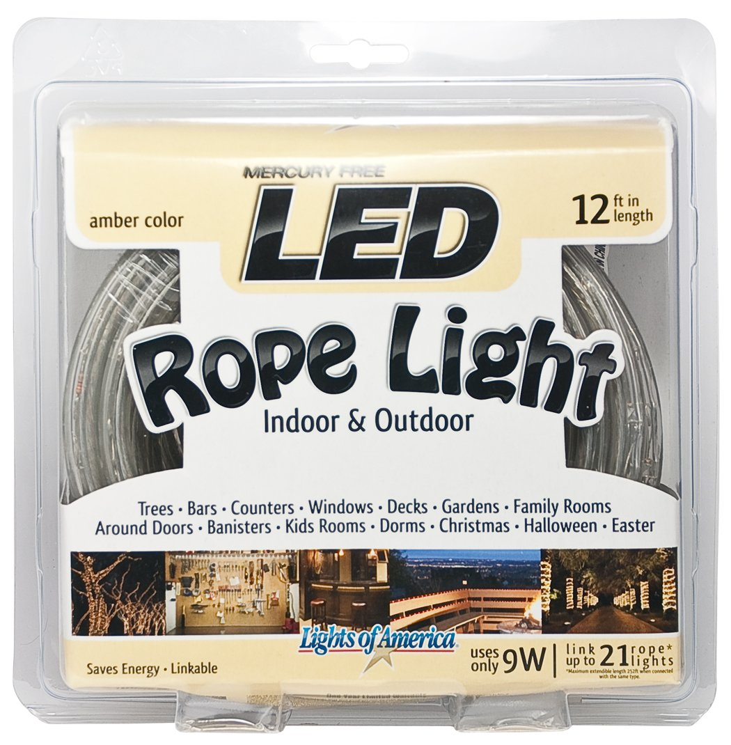 Amazon 12 led rope light amber christmas light indoor amazon 12 led rope light amber christmas light indooroutdoor by lights of america home improvement aloadofball Gallery