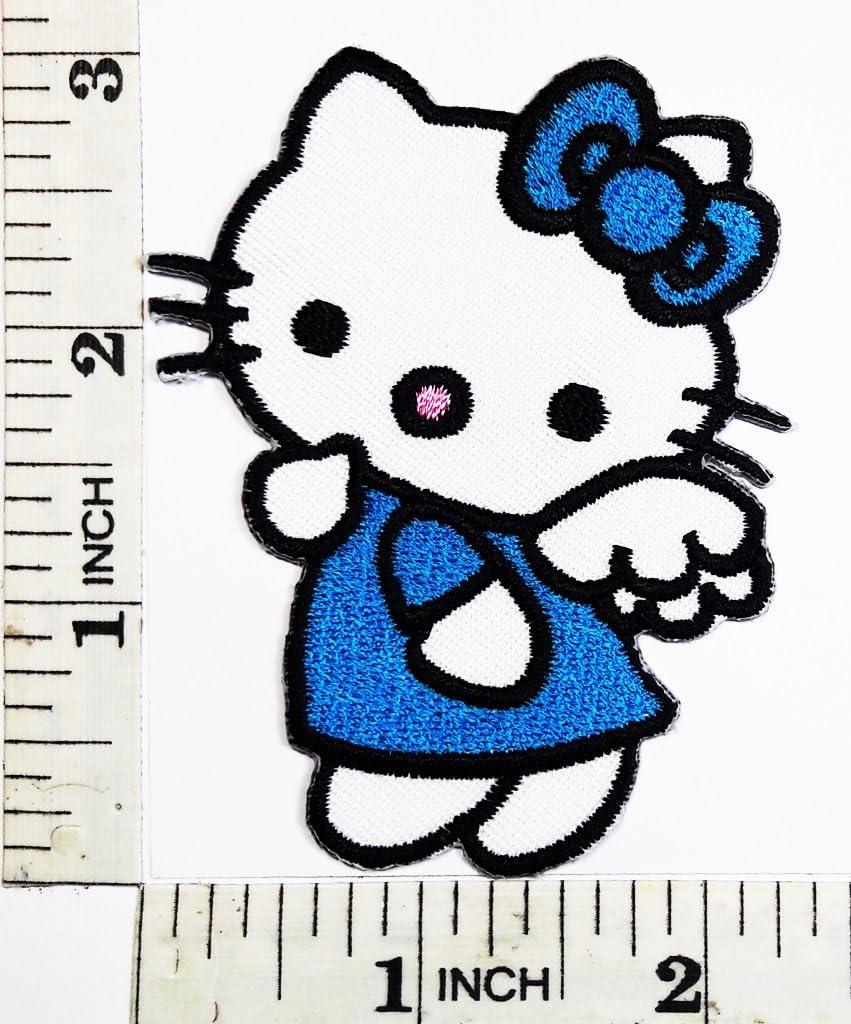 Hello Kitty Angel azul lazo símbolo Cat Cartoon Kid chaqueta ...