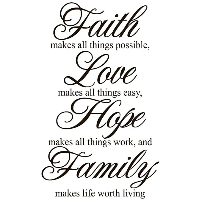 amazon faith makes all things possible love makes all things Resume Design amazon faith makes all things possible love makes all things easy hope makes all things work and family makes life worth living vinyl sticker decal