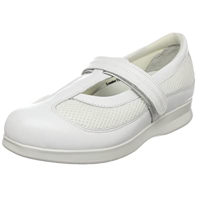 Drew Shoe Women's Desiree Flat,White Calf/White Mesh,6 ...