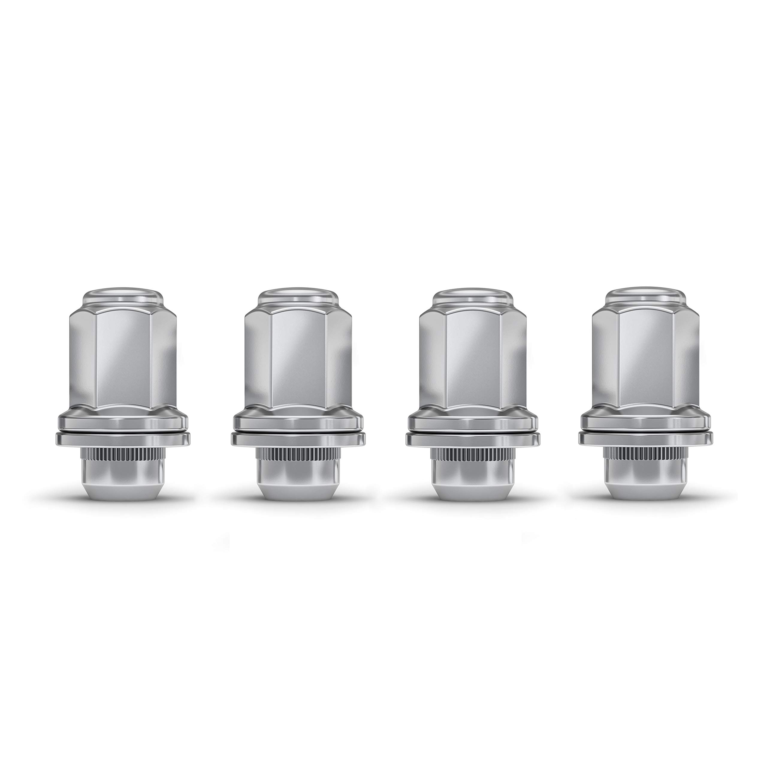 White Knight 5307L Chrome M12x1.50 Toyota SUV OEM Factory Style Mag Lug Nut with Washer, 4 Pack by White Knight