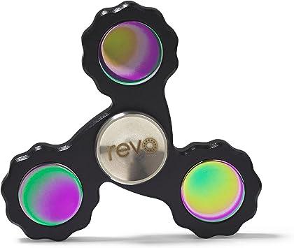 Revo Pro aleación de titanio negro Fidget mano dedo spinner: Amazon.es: Juguetes y juegos