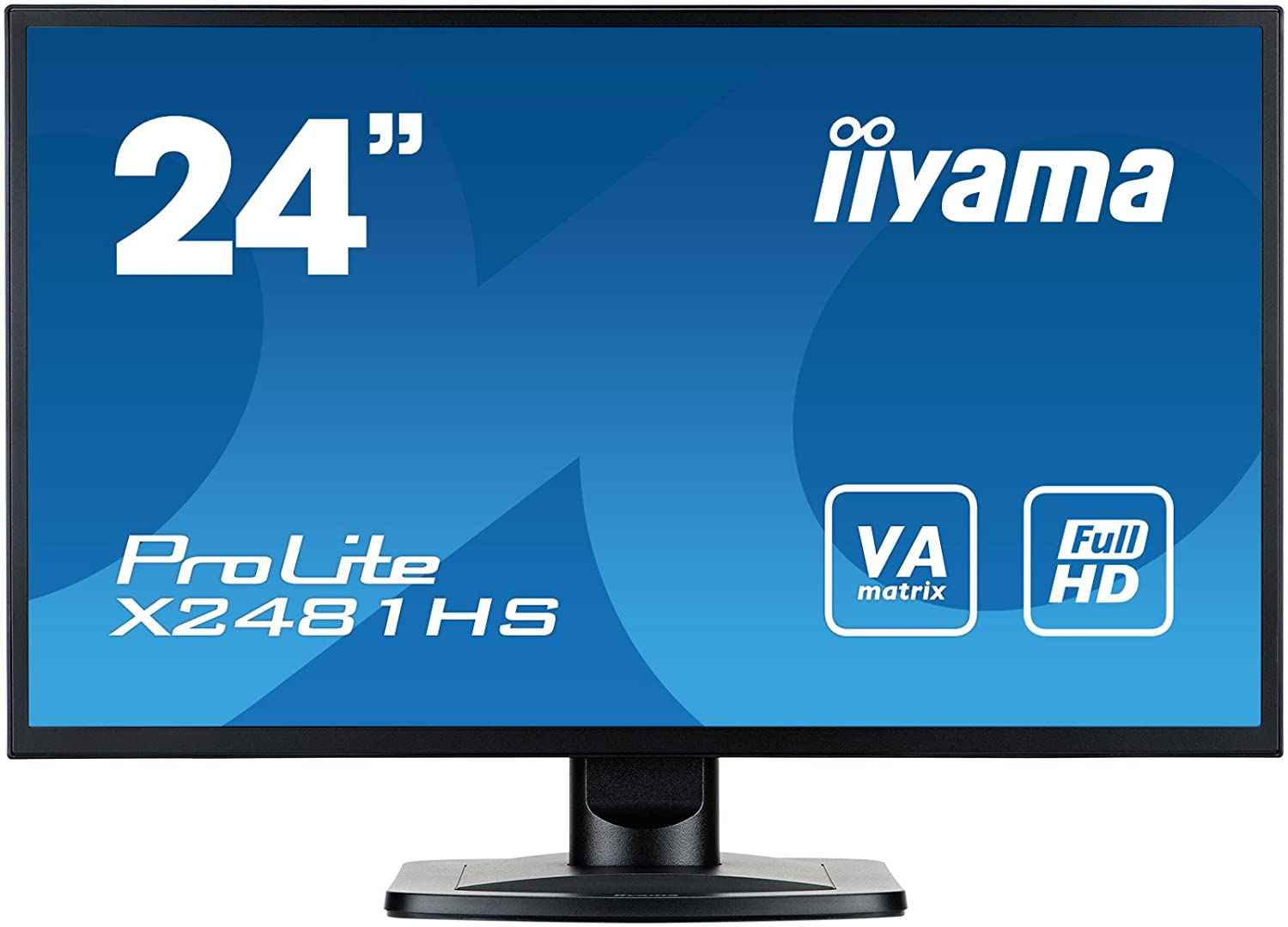 iiyama Prolite XB2481HS-B1 23.6' Full HD LED Mate Plana Negro Pantalla para PC LED Display - Monitor (59,9 cm (23.6'), 1920 x 1080 Pixeles, Full HD, LED, 6 ms, Negro) 9 cm (23.6)