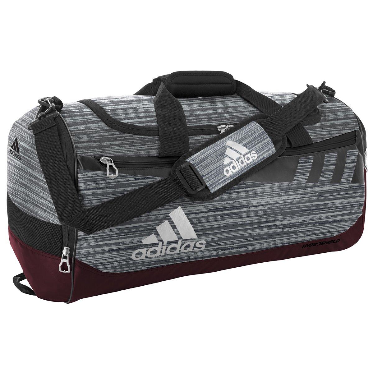 adidas Unisex Team Issue Medium Duffel, Grey Looper/Maroon/Black/White, One Size