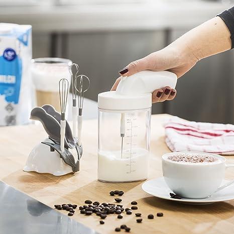 Magic mini multi batidora con 4 accesorios, batidora manual, espumador de leche, batidora de mano, mezclador de cócteles con vaso para mezclar de 400 ml: ...
