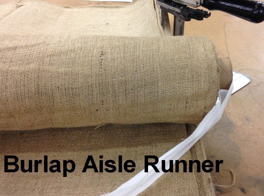 25 Feet Burlap Aisle Runner 60 Wide
