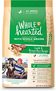 WholeHearted Lamb & Brown Rice Recipe with Whole Grains Dry Dog Food, 5 lbs.