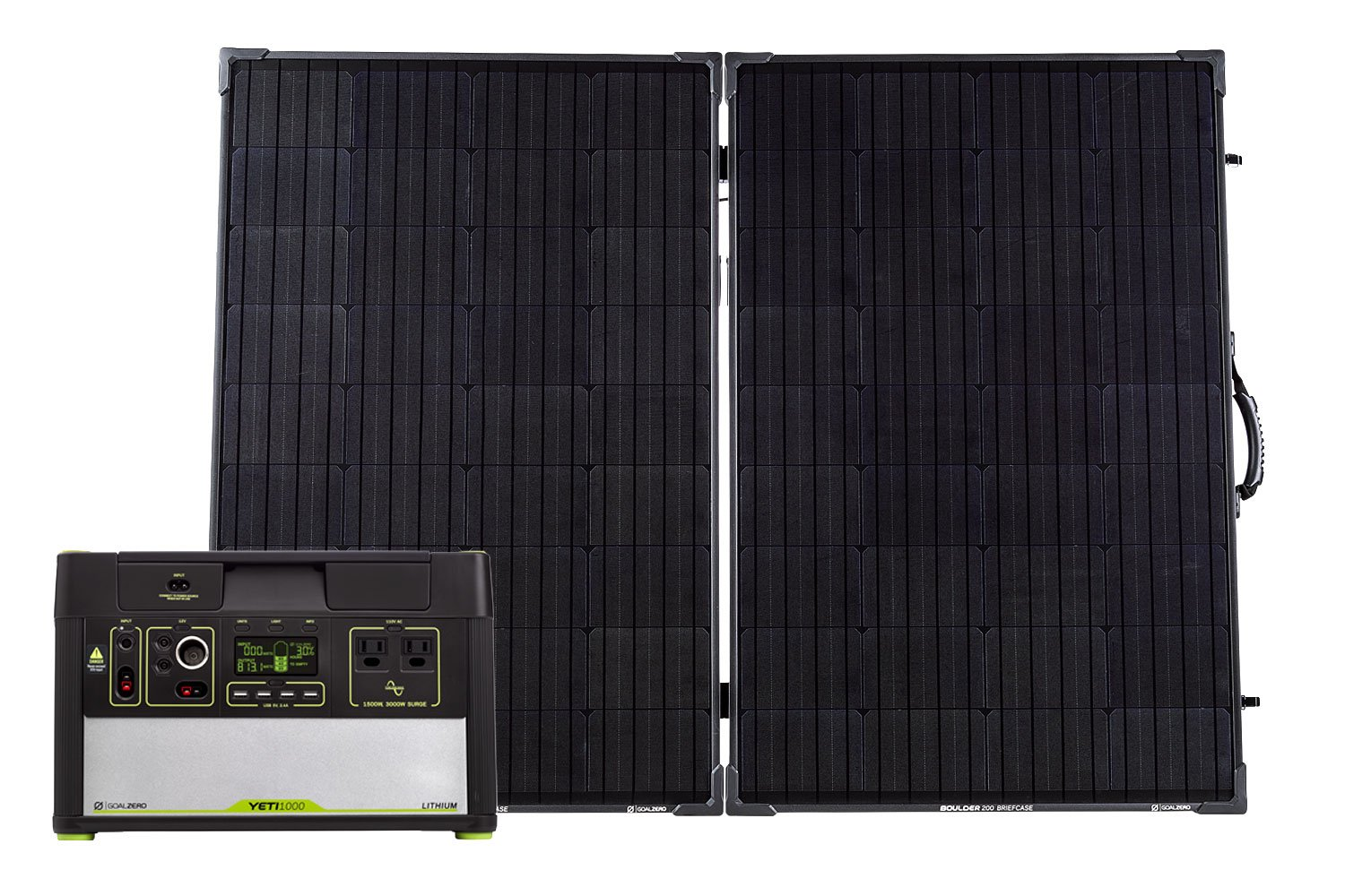 Goal Zero Yeti 1000 Lithium Solar Generator Kit With Boulder 200 Watt Briefcase Solar Panel