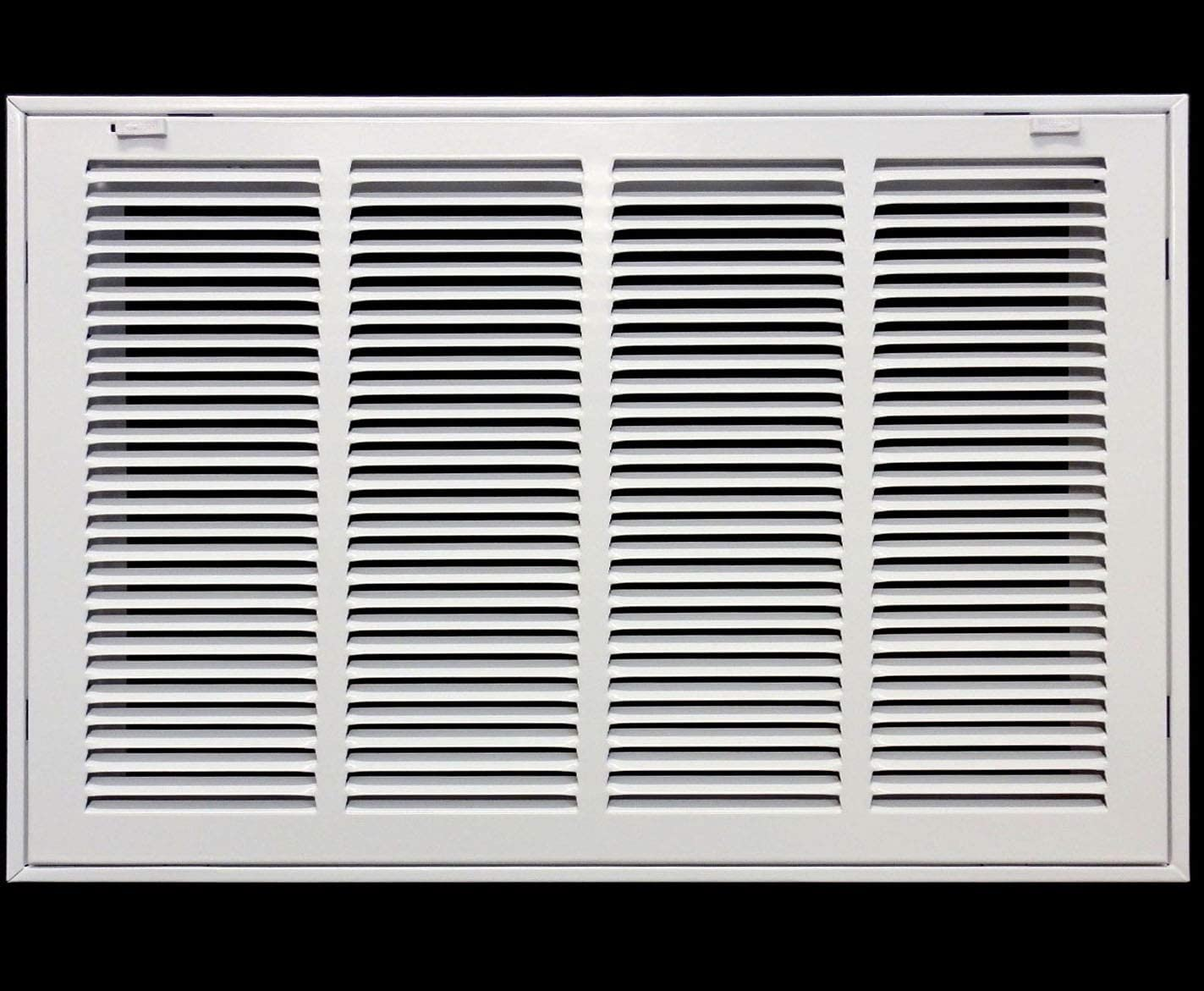 """22"""" X 16"""" Steel Return Air Filter Grille for 1"""" Filter - Removable Face/Door - HVAC Duct Cover - Flat Stamped Face -White [Outer Dimensions: 23.75w X 17.75h]"""