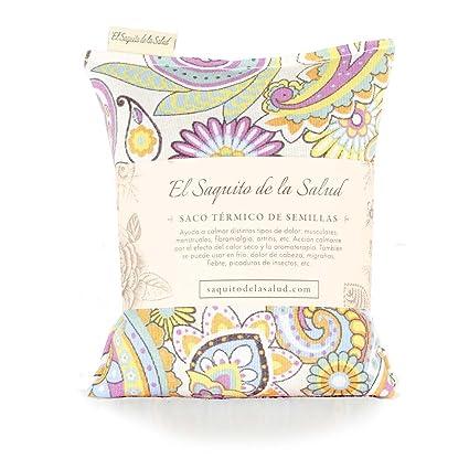Saco Térmico de Semillas aroma Lavanda, Azahar o Romero tejido Vintage (Sin Aroma,