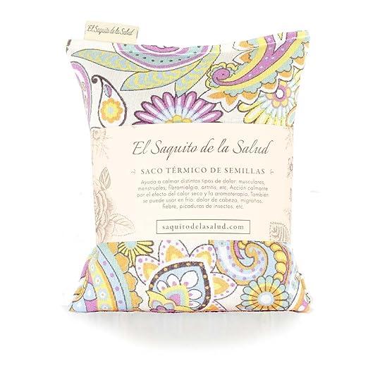 Saco Térmico de Semillas aroma Lavanda, Azahar o Romero tejido Vintage (Sin Aroma, 23_cm)