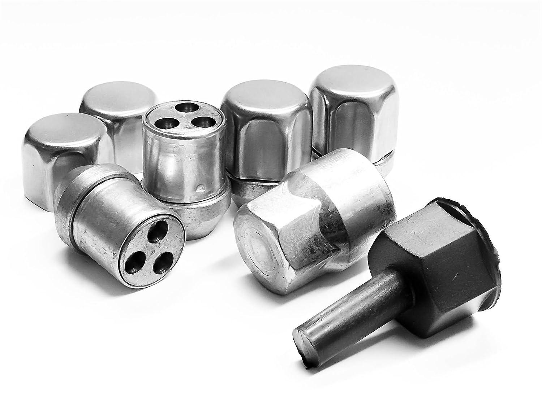 Butzi 12x1.50 Chrome Anti Theft Locking Wheel Bolt Nuts /& 2 Keys for Hyundai i40