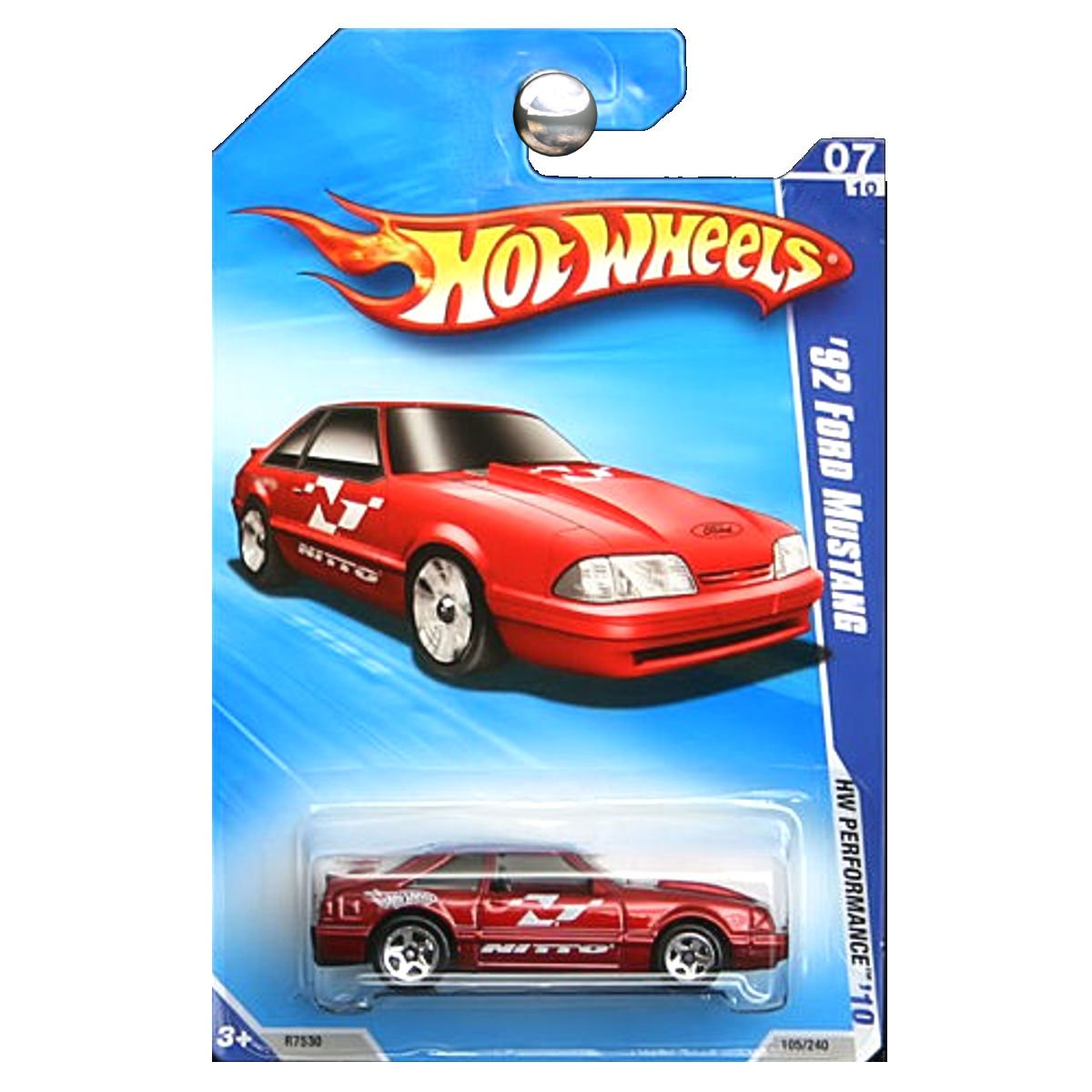 Amazon com hot wheels 2010 hw performance 1992 ford mustang red gt nitto fox body toys games