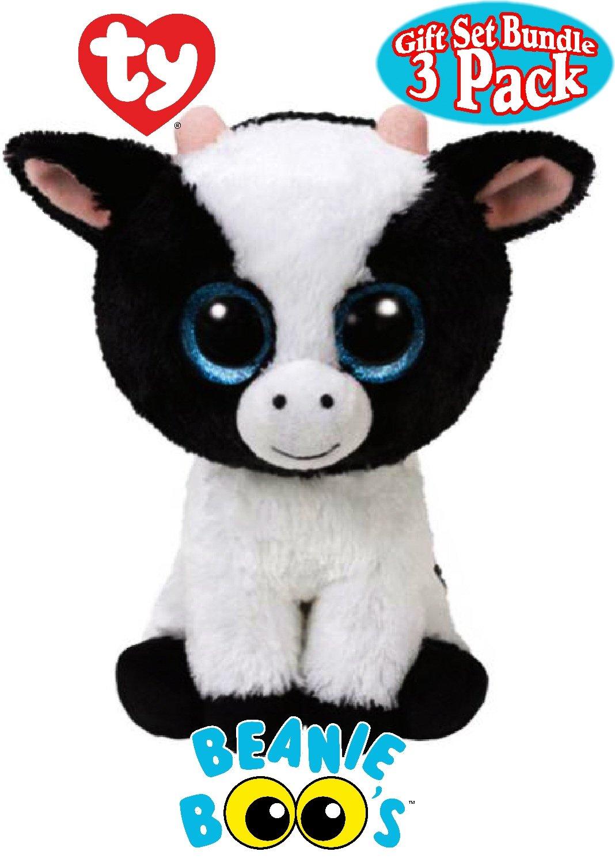 Amazon.com: Ty Beanie Boos Butter (Cow), Harriet (Horse) & Gabby ...
