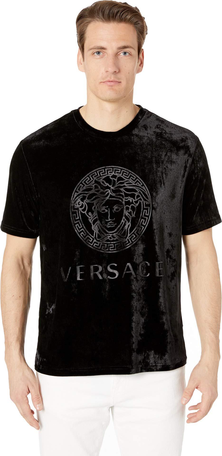 Versace Men's Chenille Mc Gym T-Shirt Black 5
