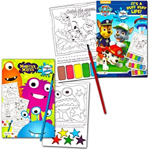 Amazon.com: Disney Nick Jr Paint With Water Super Set Kids Toddlers ...