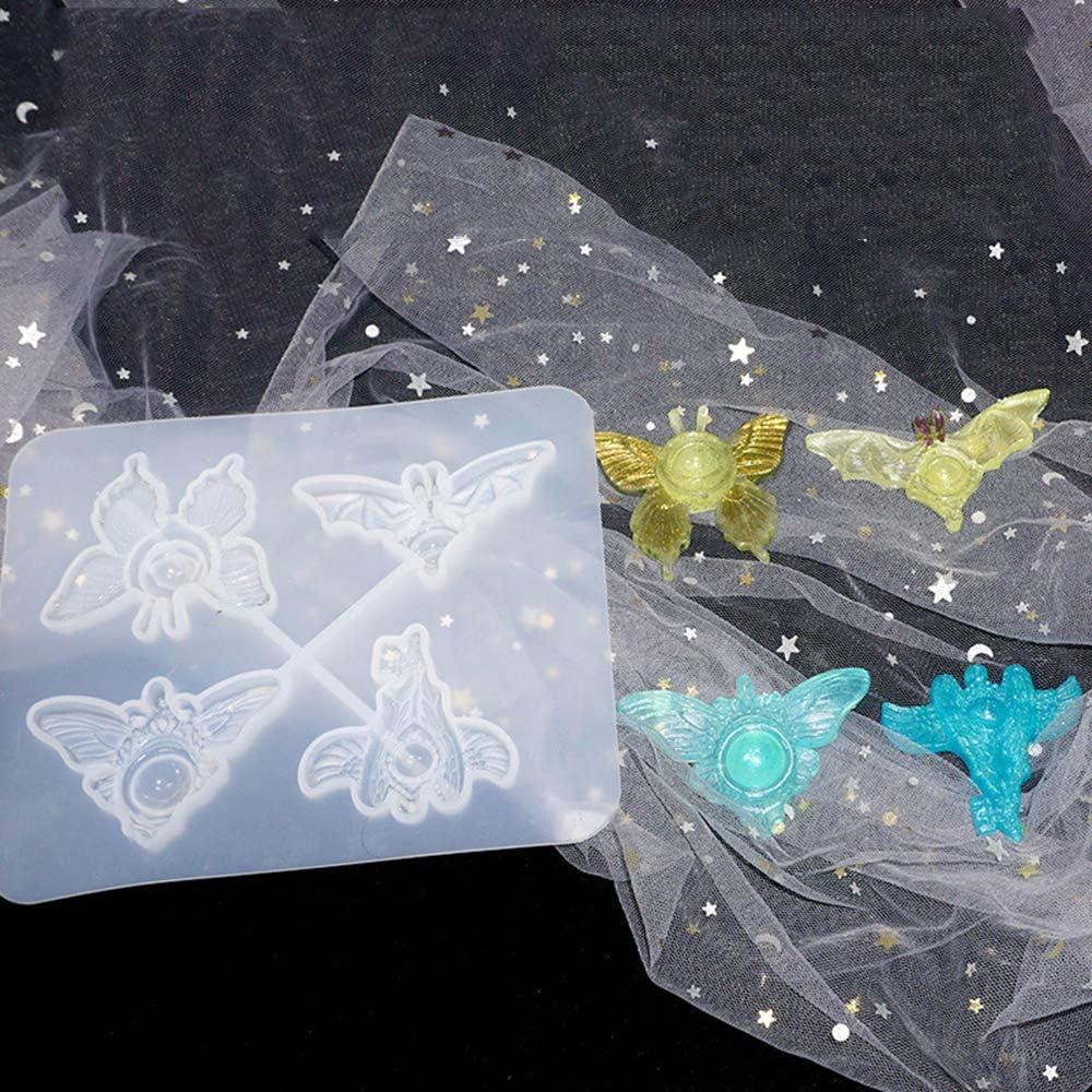 Molde de resina de ojo de diablo Molde de fundici/ón de epoxi de cristal de silicona Collar Colgante Fabricaci/ón de joyas Moldes para Halloween Navidad Decoraci/ón Craft DIY