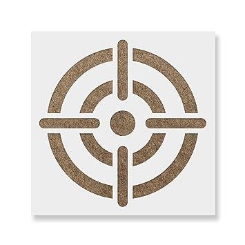 amazon com bullseye stencil template reusable stencil with