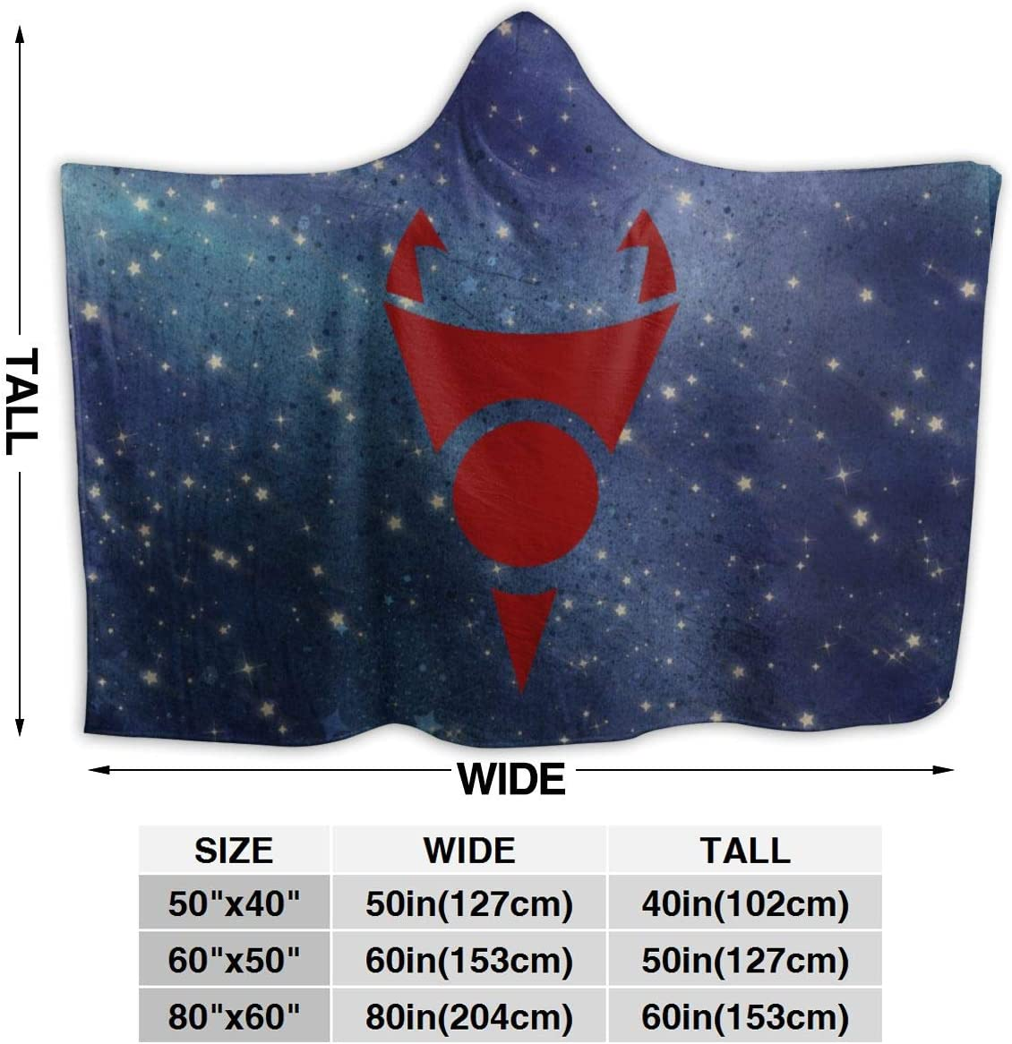 Andea Classic Invader Zim Gir Hooded Blanket Warm Wearable Novelty Cape for Kids Adults 50x40 Inch